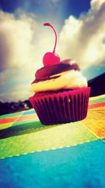 expectations - cupcake with cherry on top